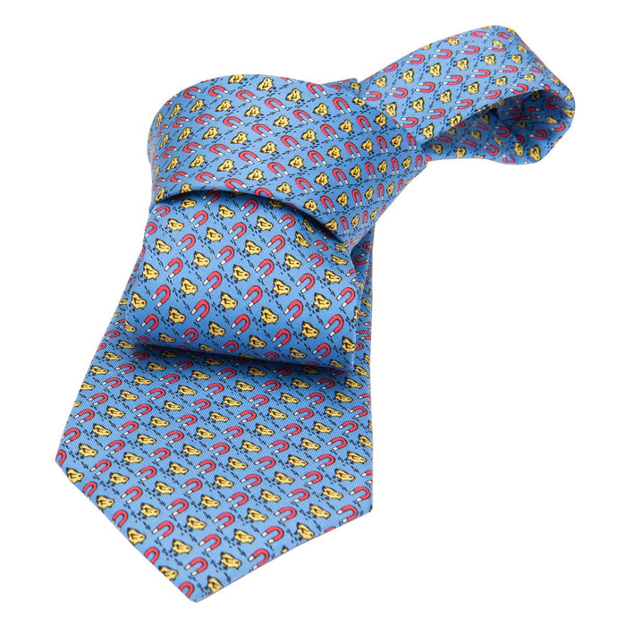 Amagansett Chicks Silk Tie, Blue / Yellow
