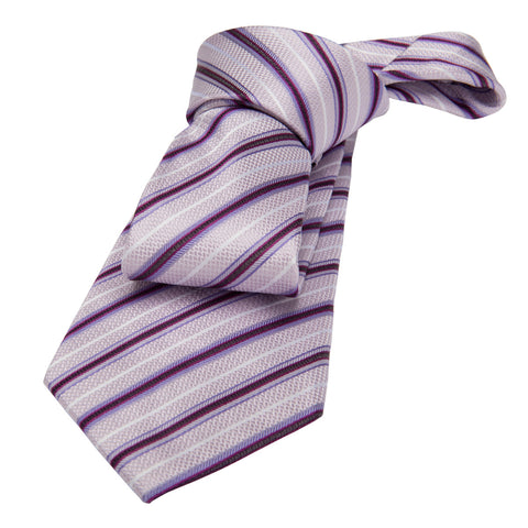 Lilac Striped Silk Tie