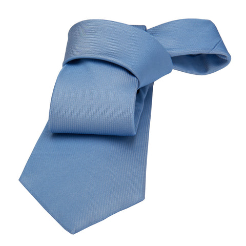 Light Blue Solid Silk Tie