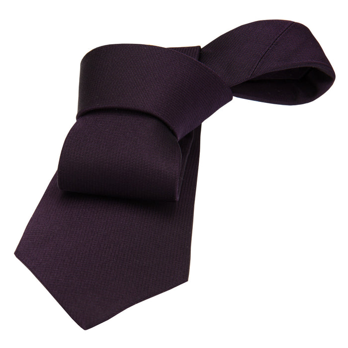 Solid Purple Silk Tie