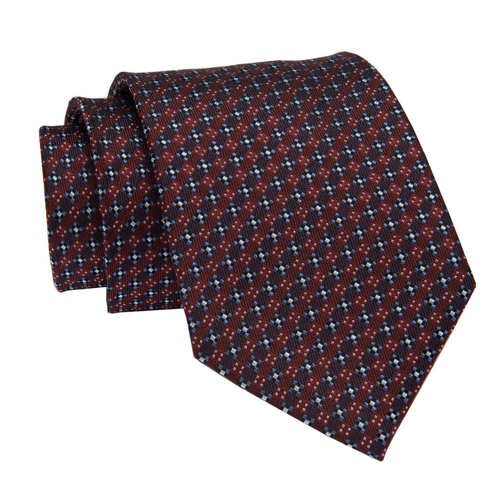 Burgundy and Abstract Silk Tie