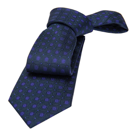 Purple Foulard Silk Tie