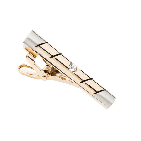 Dalton Stainless Steel Tie Bar, Gold / Silver