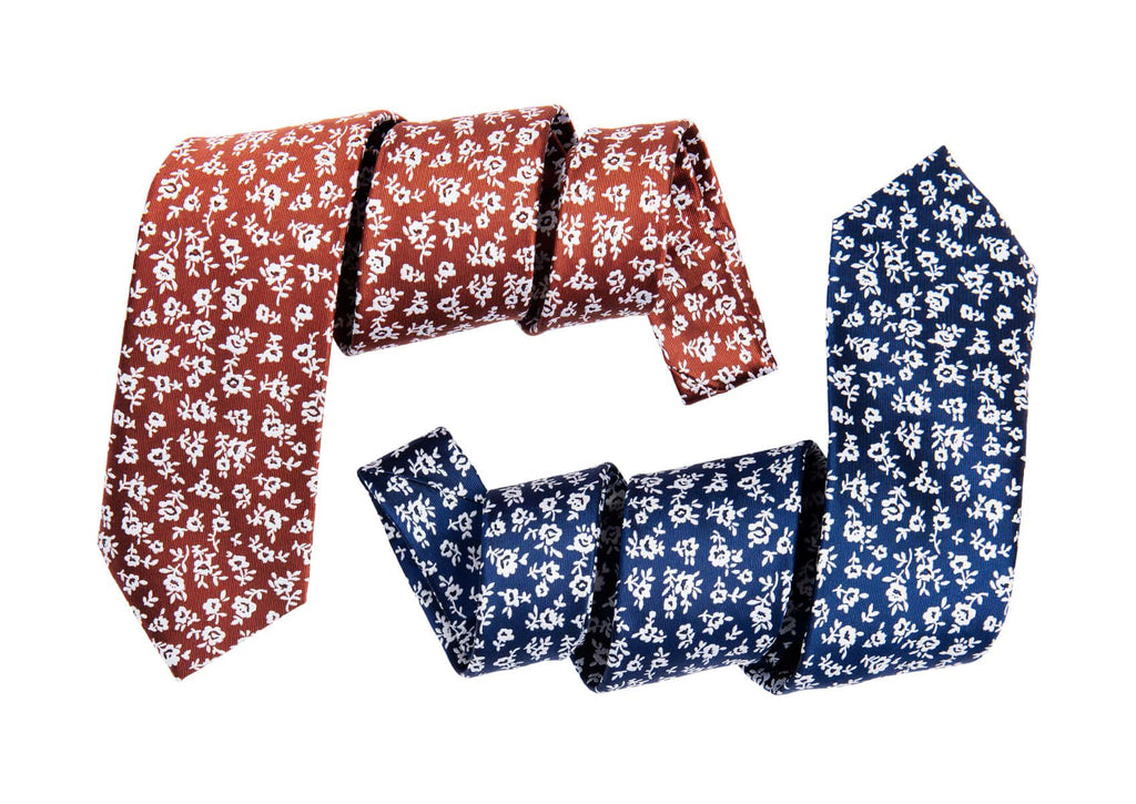Luxurious Floral Silk Ties