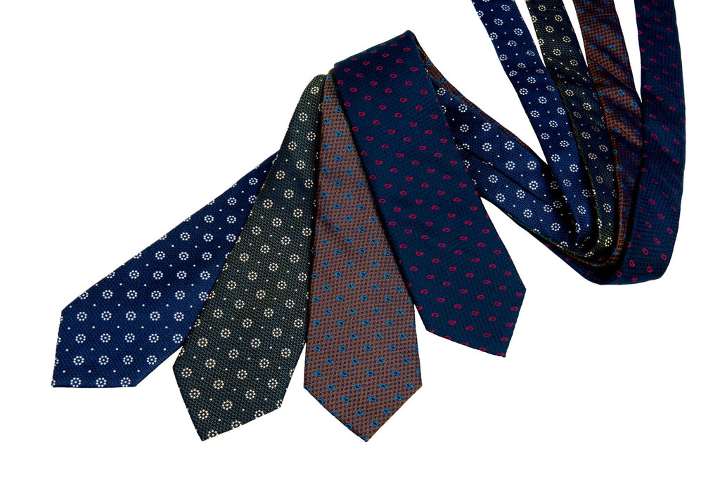 Luxurious Foulard & Paisley Silk Ties