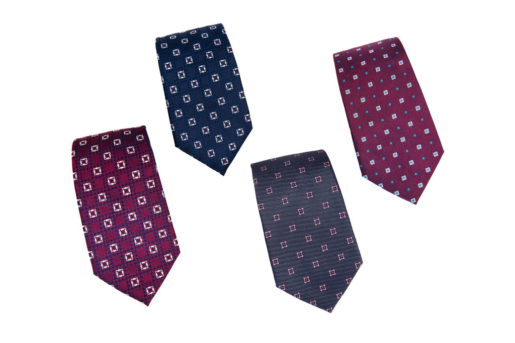 Geometric Silk Ties