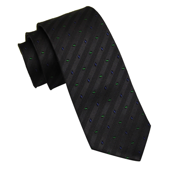 Grey Abstract Skinny Silk Tie