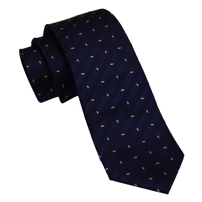 Navy Abstract Skinny Silk Tie
