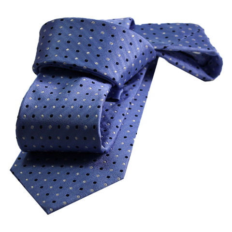 Light Blue Polka Dot Silk Tie