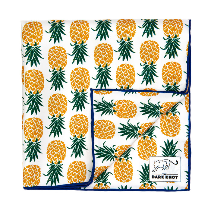 Pineapple Motif Silk Pocket Square