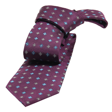 Purple Abstract Wool Silk Tie
