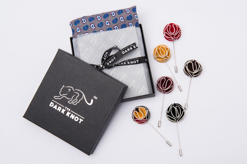 Tie, Pocket Square & Lapel Flower of the month club