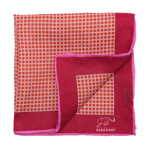Reddish Brown Linen Pocket Square