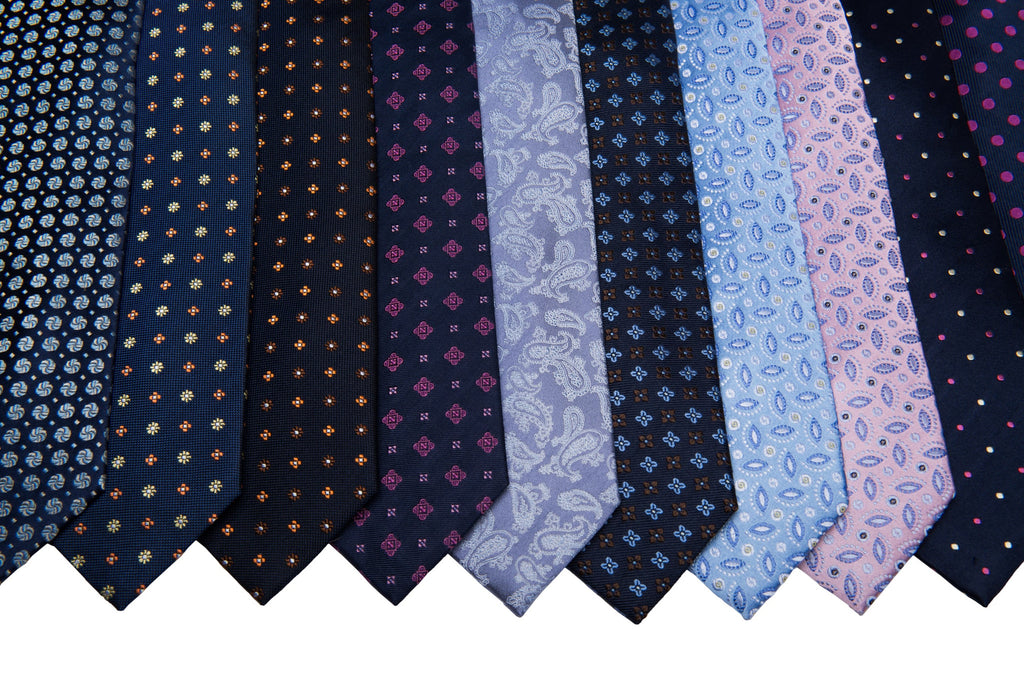 Navy w/ Pink Silk Ties