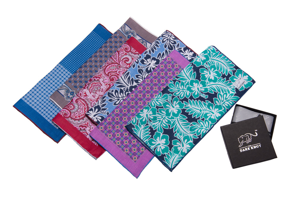 Hand Made Linen Pocket Squares