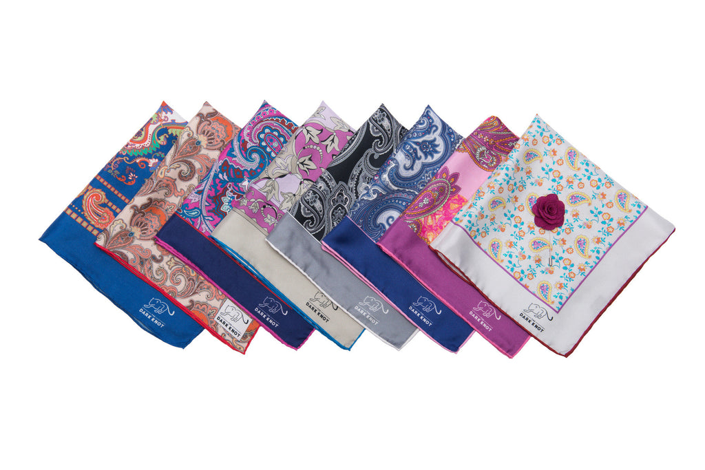 Silk Paisley Pocket Squares
