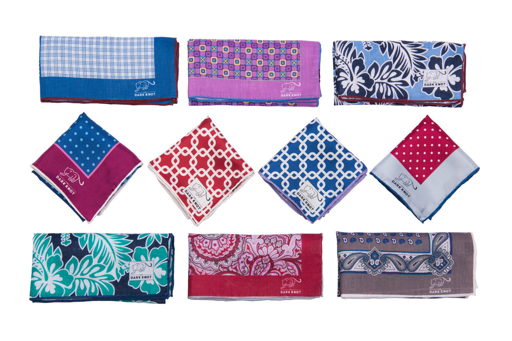 Linen and Silk Pocket Squares
