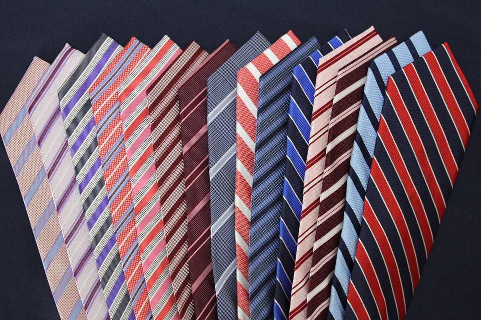 Striped Silk Ties with matching suit and shirt recommendations