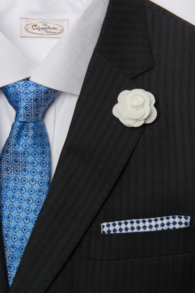 Tie, Pocket Square &  Lapel Flower