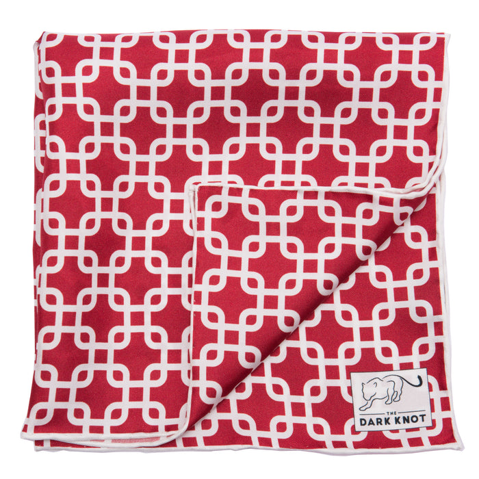 Burgundy Foulard Pocket Square