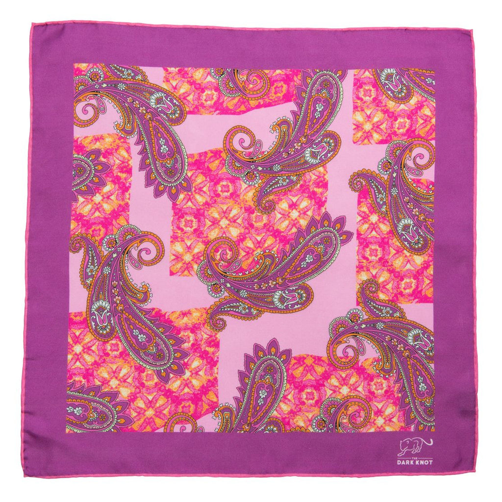 Lilac & Pink Silk Pocket Square
