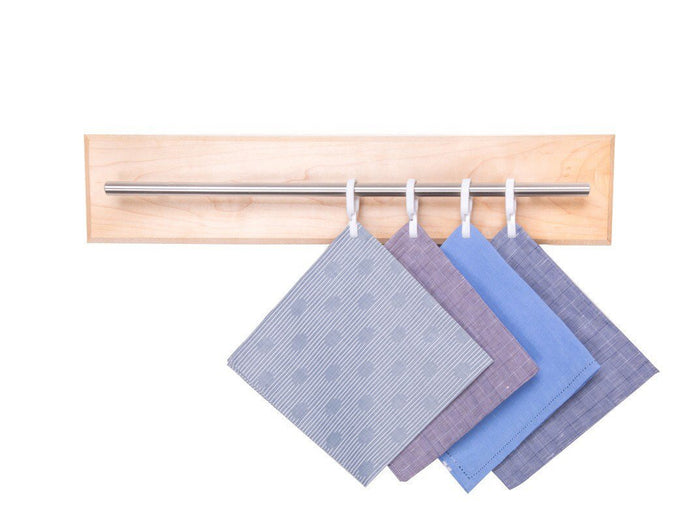Maple Pocket Square and Tie Organizer