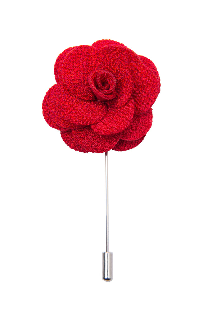 Red lapel flower