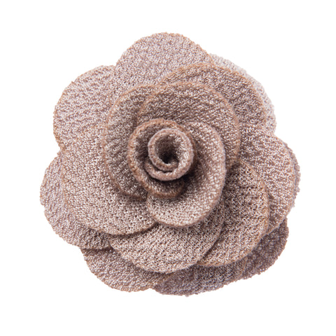 Light grey lapel flower