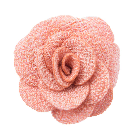 Light pink lapel flower
