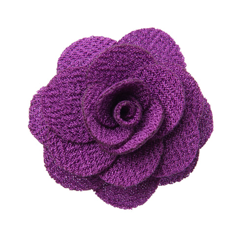 Purple lapel flower