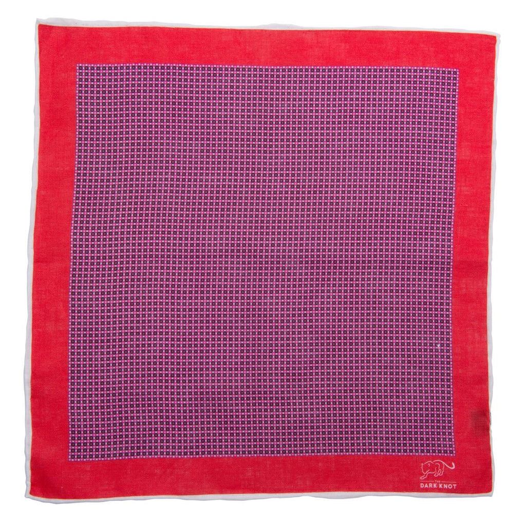 Purple Linen Pocket Square