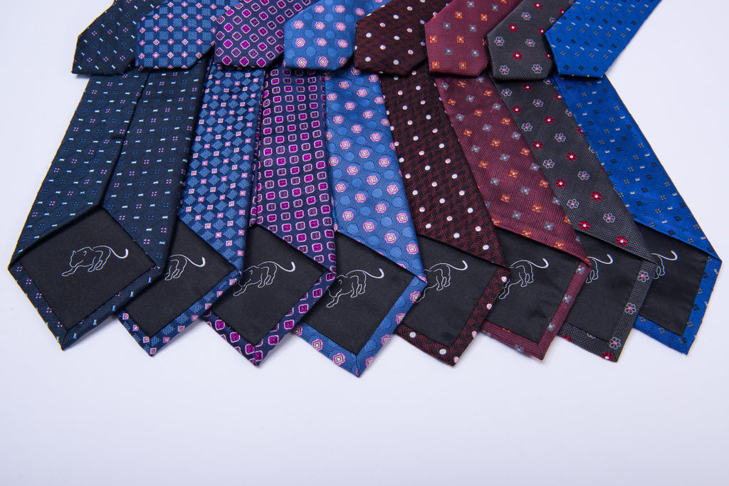 Abstract Woven Silk Neckties