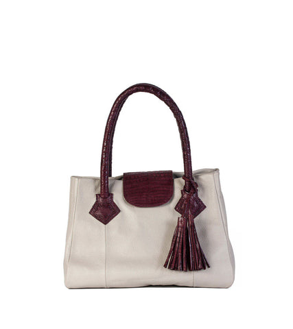 The Croc Top Satchel (Calf Skin) - 60% Off!