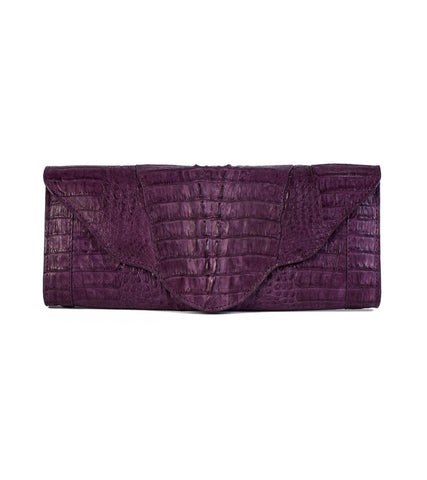 The Nico Clutch (Purple Crocodile) - 50% Off!