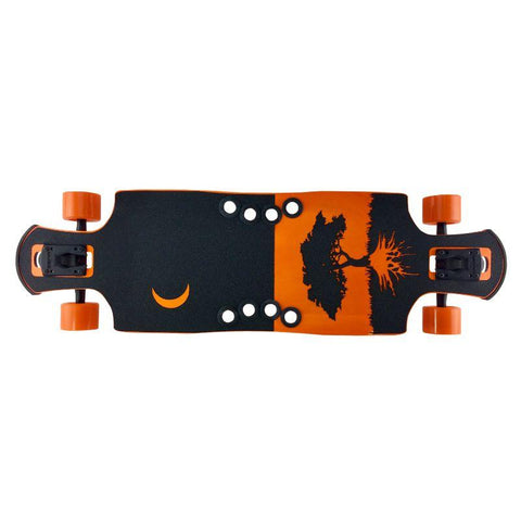 "Orange Midnight 35"" Frosty DTP Longboard"