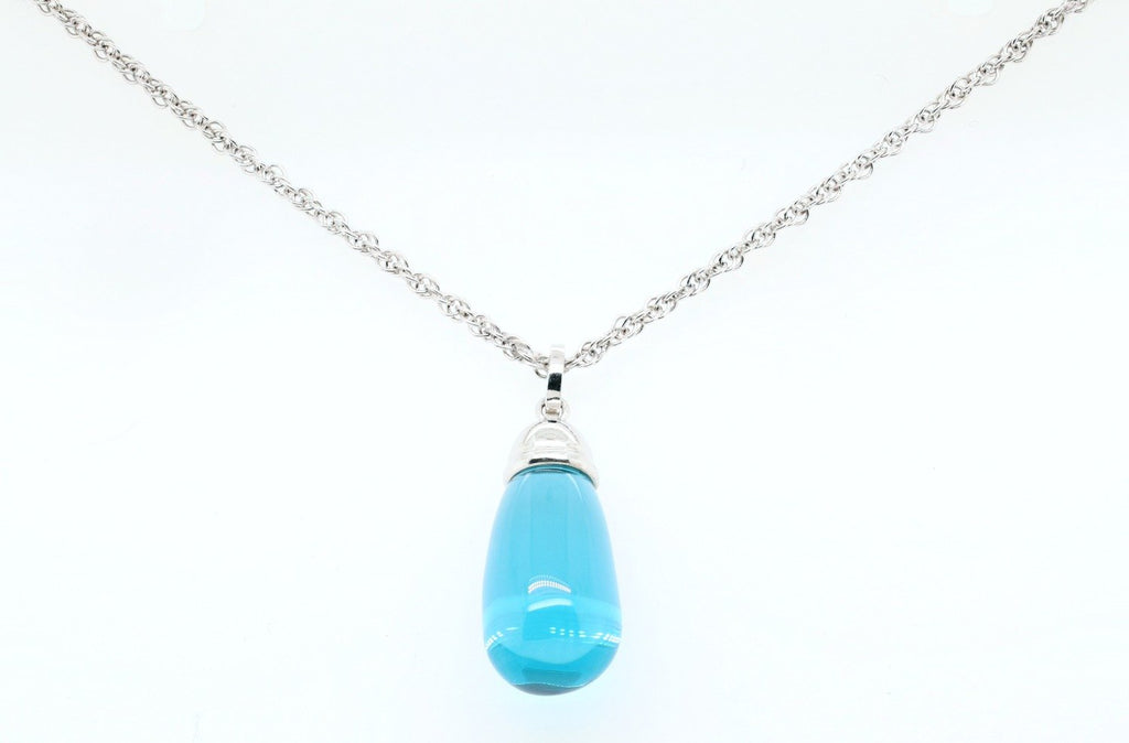 blue teardrop pendant yves lemay jewelry https://youtu.be/P1DtlREqn5U