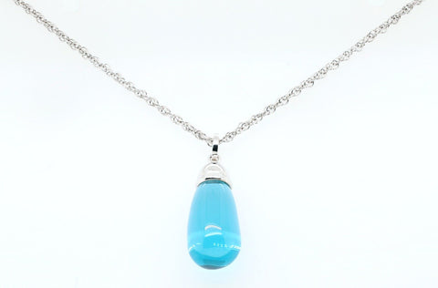 Blue teardrop pendant