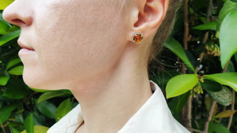 Cognac delight earrings