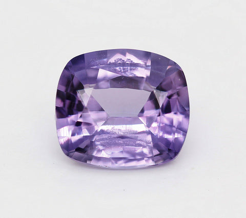 Cushion cut natural purple sapphire