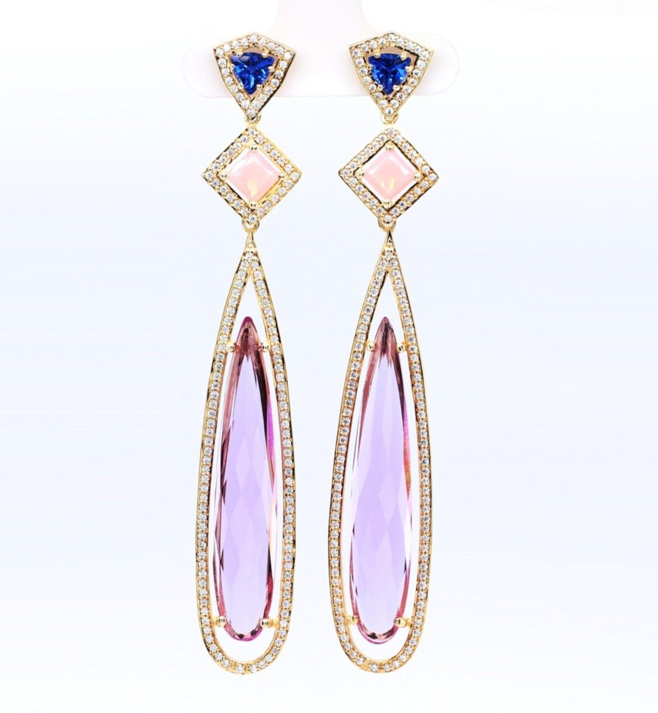 lavender teardrop earrings yves lemay jewelry https://youtu.be/tPyiNaqWYVk