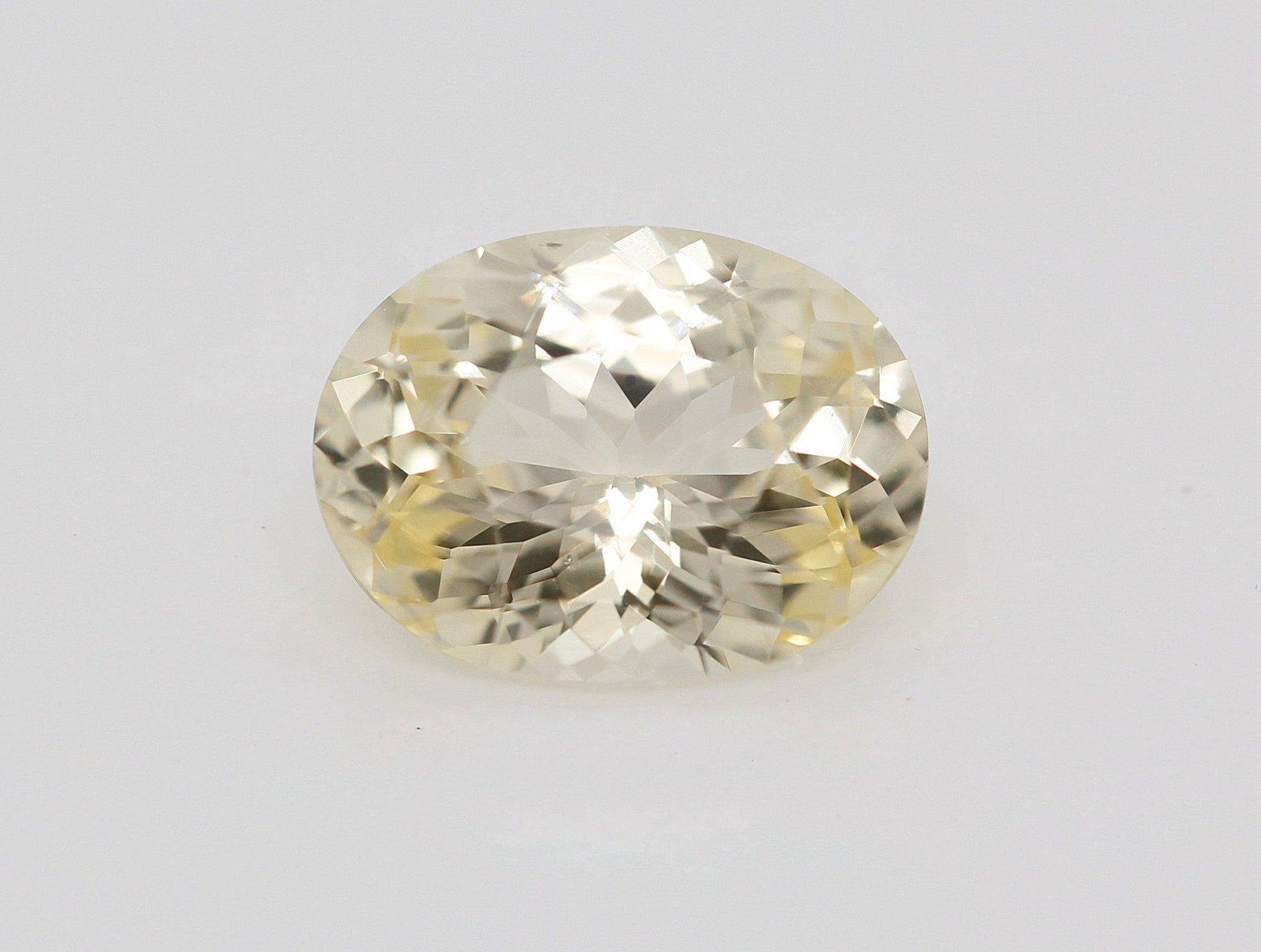 Natural oval light yellow sapphire