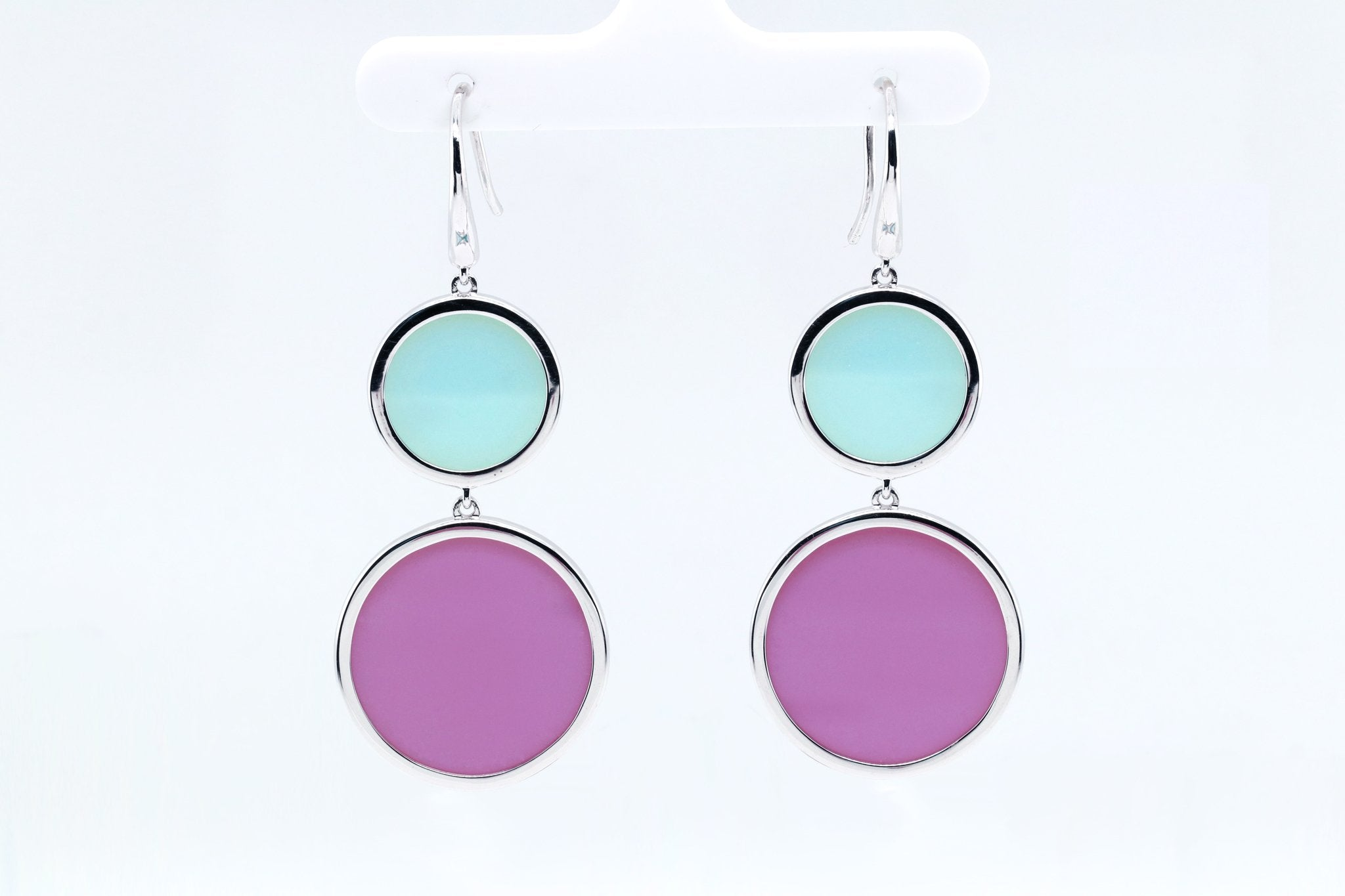 Pastel polka dot style earrings