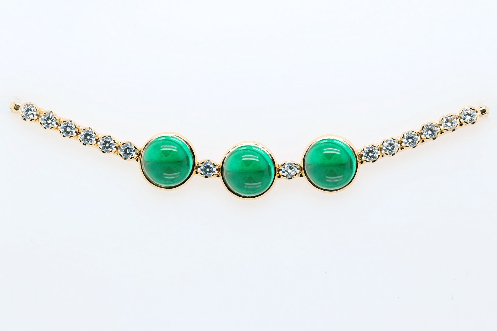 Triple emerald green tropical bracelet
