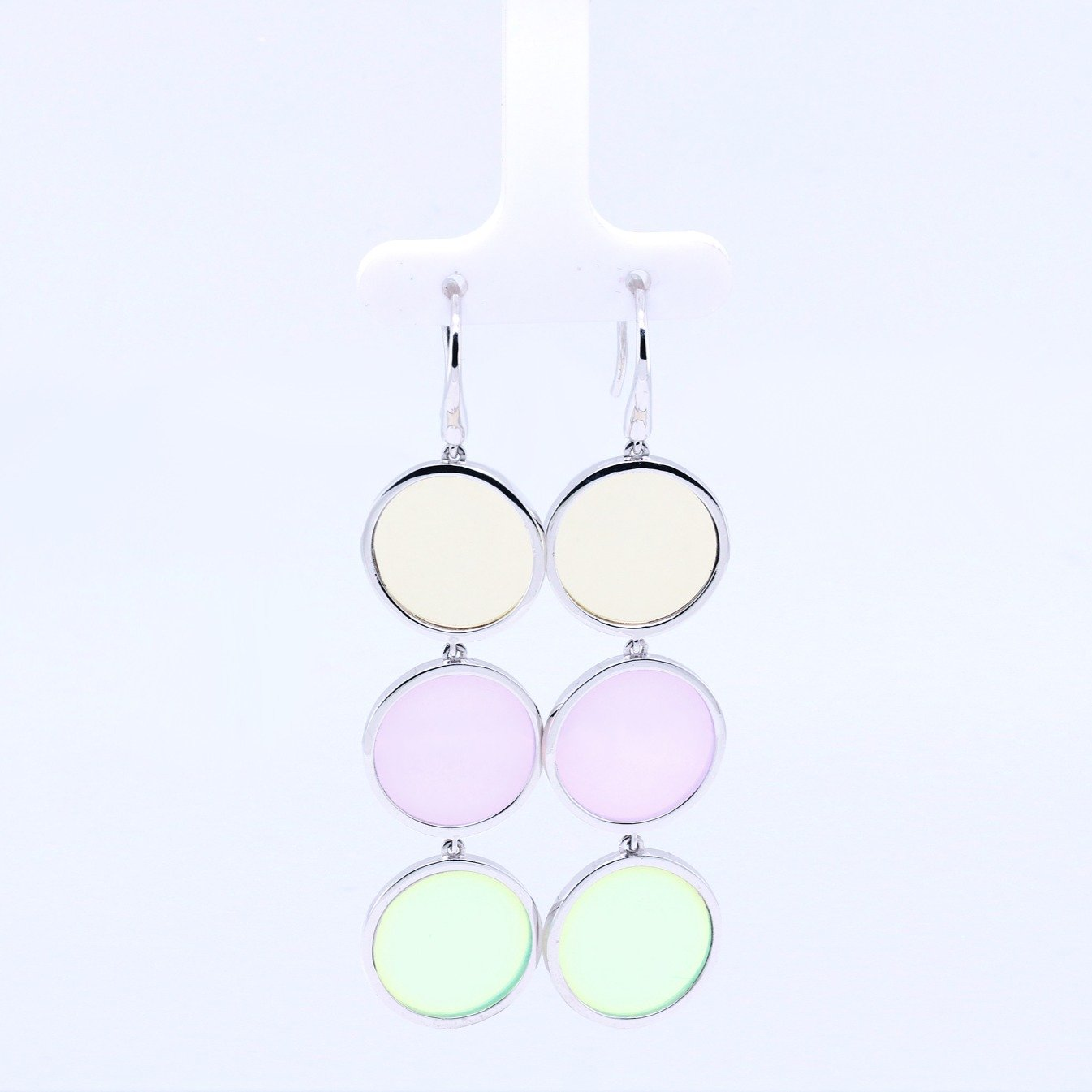 Triple polka dot earrings