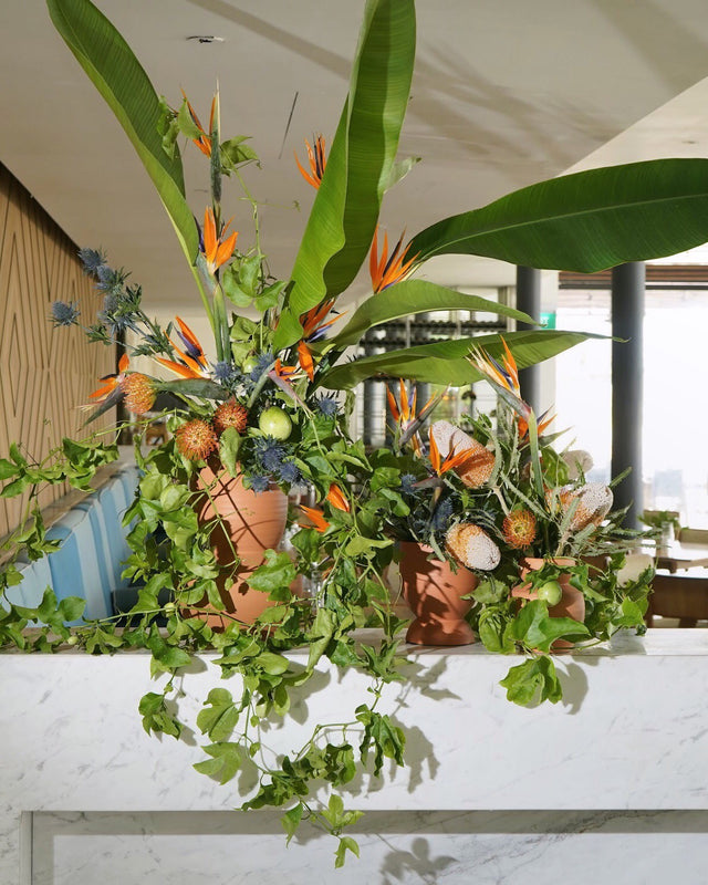 corporate restaurant florals