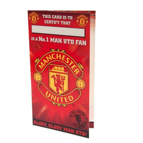 Manchester United FC Birthday Card No 1 Fan