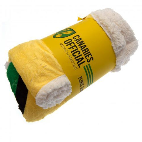 Norwich City FC Sherpa Fleece Blanket