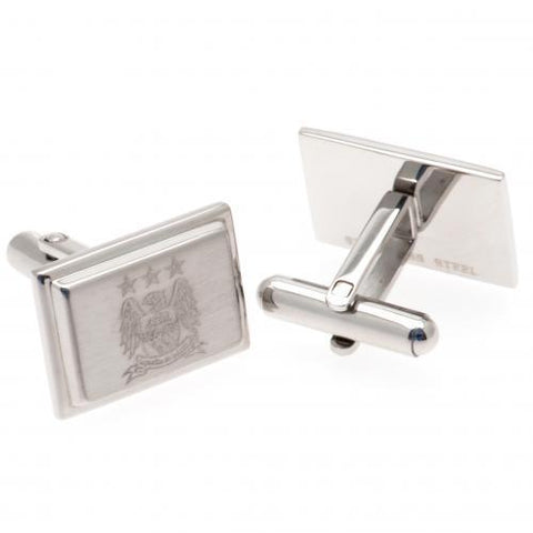 Manchester City FC Stainless Steel Cufflinks EC