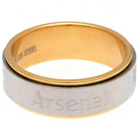 Arsenal FC Bi Colour Spinner Ring Medium