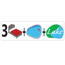 Load image into Gallery viewer, Combo Bedroom, Pool and Lake Real Estate Sign Rider